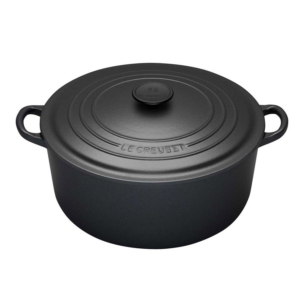 鑄鐵圓鍋24cm(沉靜黑)