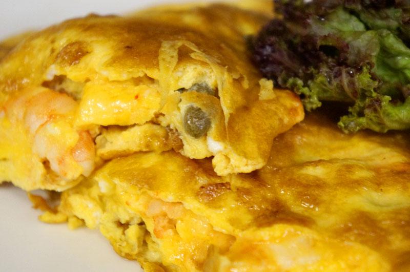 台中魚麗共同廚房示範:酸豆蝦仁烘蛋
