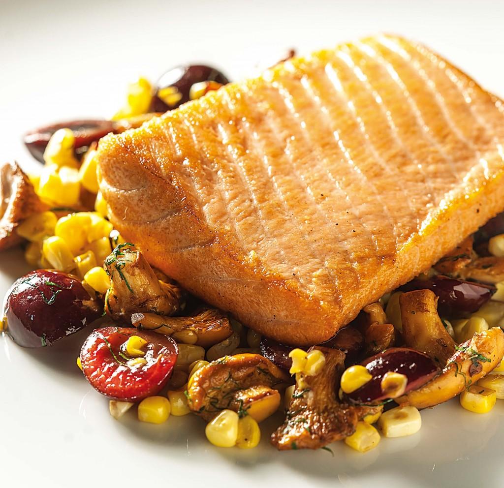 野生阿拉斯加鮭魚