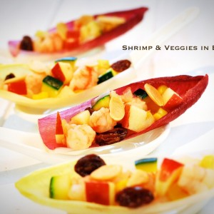 Shrimp veggies in endive 300x300