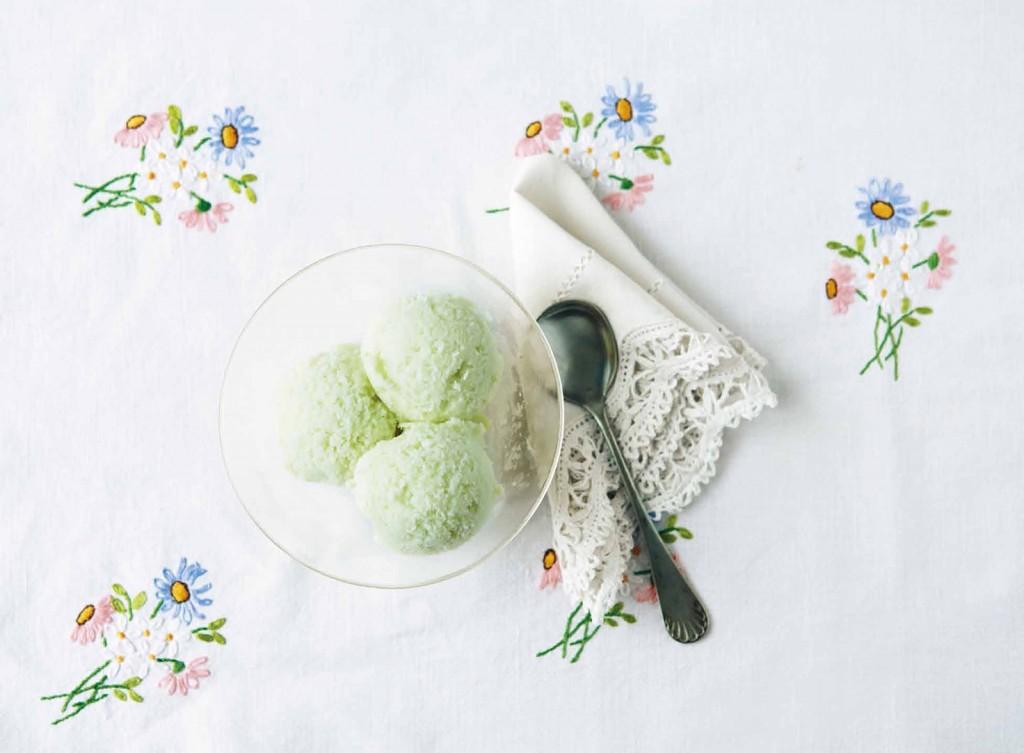 戀上水果甜點 - 哈密瓜豆奶冰淇淋 p40 41 -1