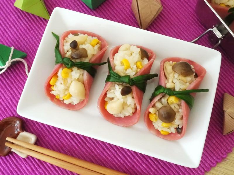 菇菇玉米火腿壽司-主圖 (1)