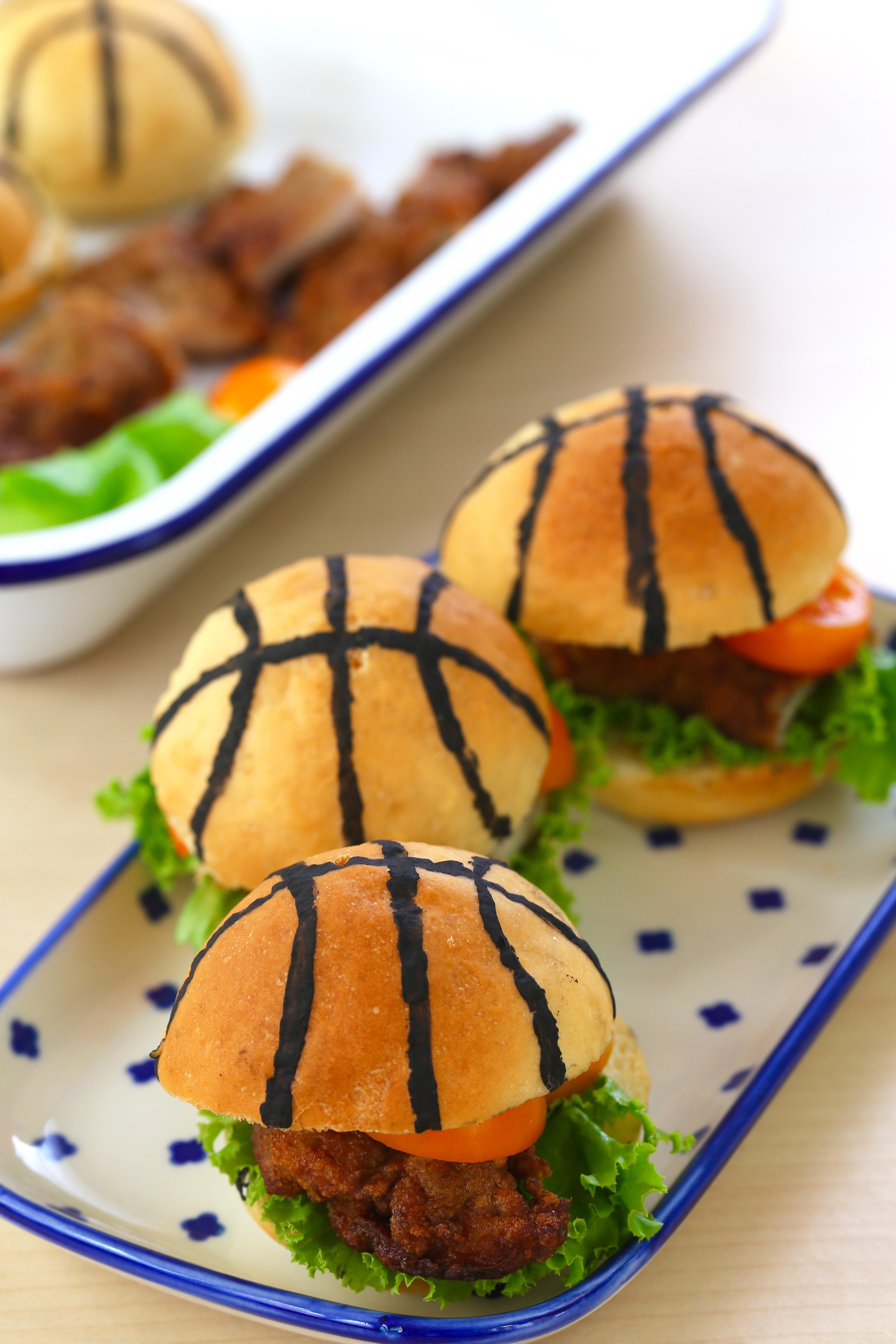 籃球造型小漢堡5