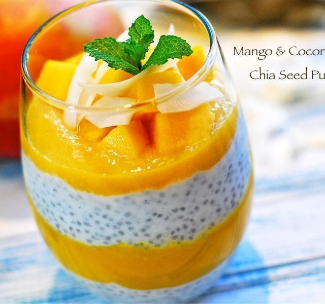 Chia seed mango pudding 640x600